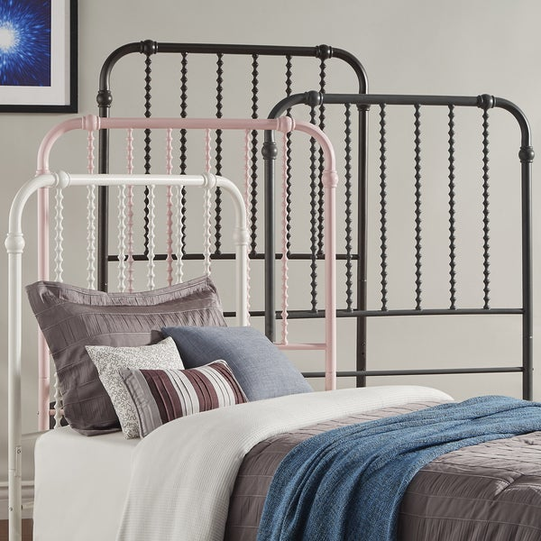 IQ KIDS Gulliver Vintage Antique Spiral TWIN Iron Metal Bed