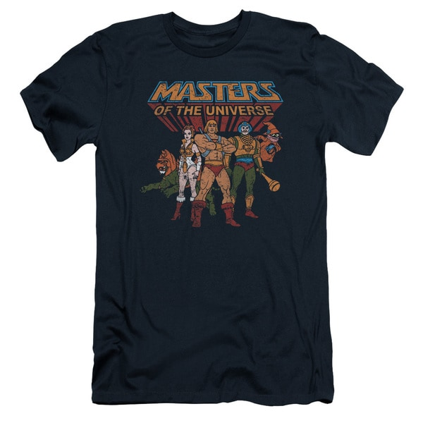 Masters Of The Universe/Team Of Heroes Short Sleeve Adult T-Shirt 30/1 in Navy