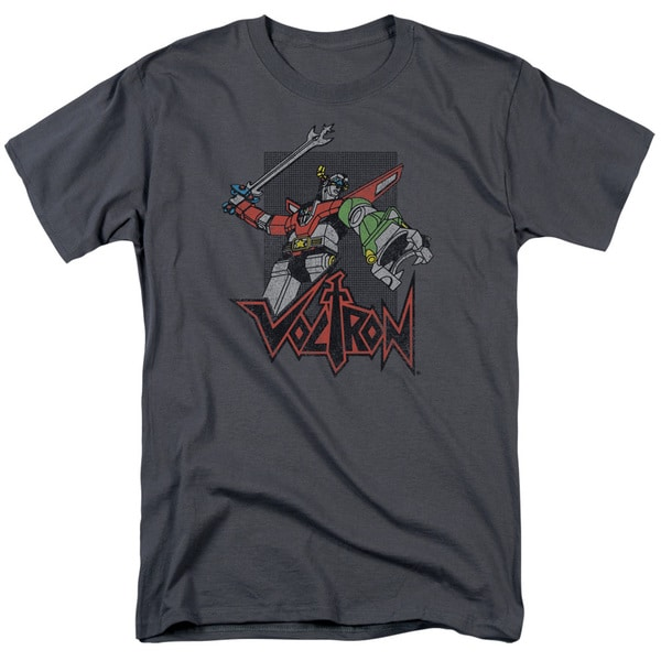 Voltron/Roar Short Sleeve Adult T-Shirt 18/1 in Charcoal
