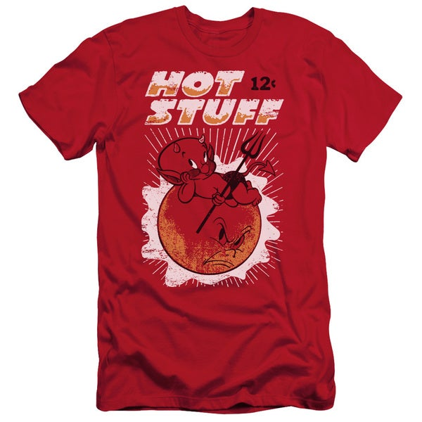 Hot Stuff/On The Sun Short Sleeve Adult T-Shirt 30/1 in Red