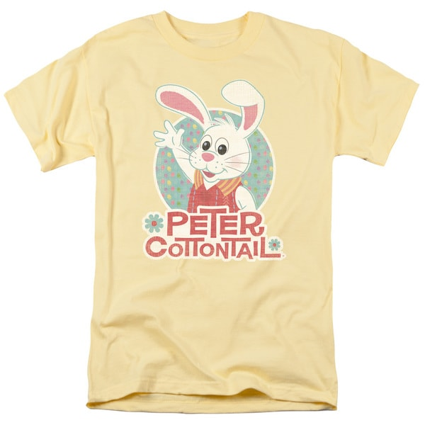 Here Comes Peter Cottontail/Peter Wave Short Sleeve Adult T-Shirt 18/1 in Banana