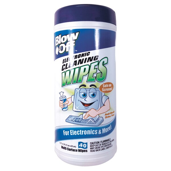 Blow Off WPE-002-091 Electronic Cleaning Wipes 40-count
