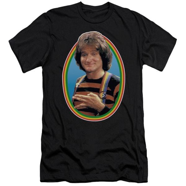Mork & Mindy/Mork Short Sleeve Adult T-Shirt 30/1 in Black