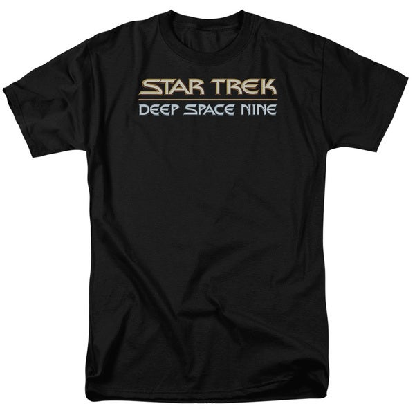 Star Trek/Deep Space Nine Logo Short Sleeve Adult T-Shirt 18/1 in Black