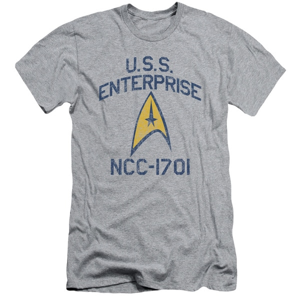 Star Trek/Collegiate Arch Short Sleeve Adult T-Shirt 30/1 in Athletic Heather