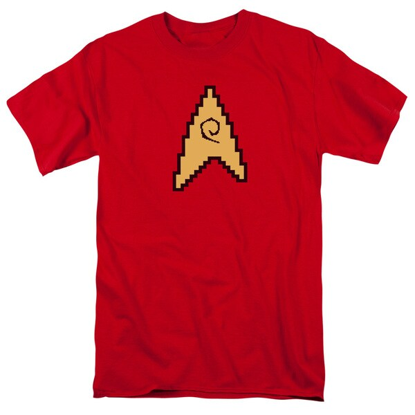 Star Trek/8 Bit Engineering Short Sleeve Adult T-Shirt 18/1 in Red