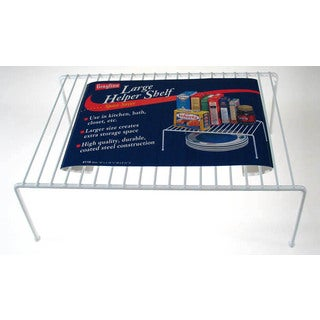 "Grayline 40110 15"" X 10-1/4"" X 5-3/8"" Large White Helper Shelf"