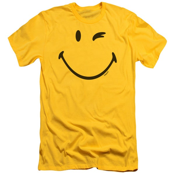 Smiley World/Big Wink Short Sleeve Adult T-Shirt 30/1 in Yellow