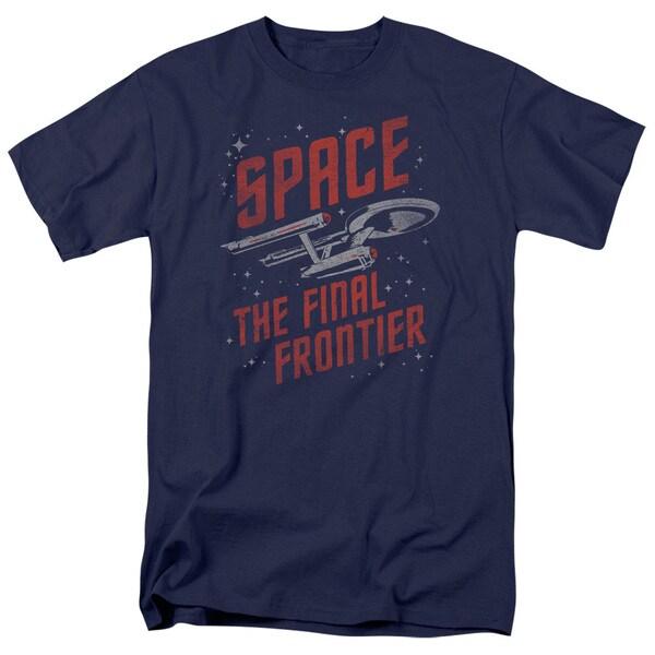 Star Trek/Space Travel Short Sleeve Adult T-Shirt 18/1 in Navy