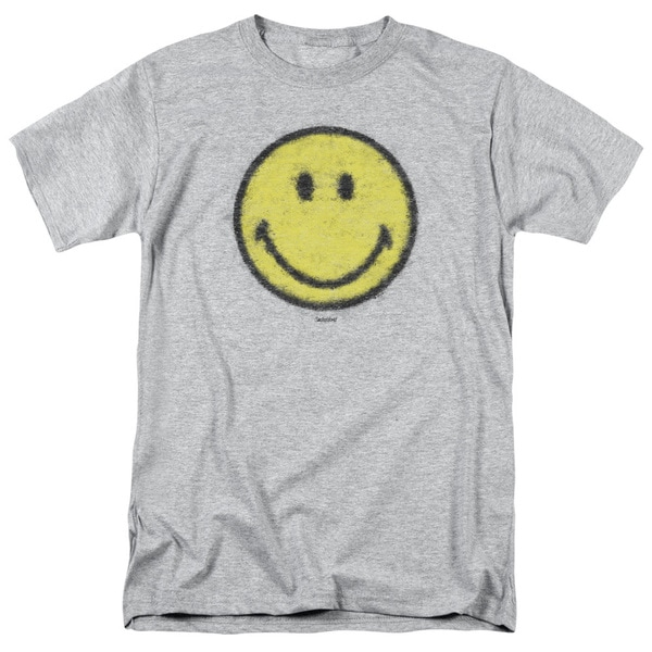 Smiley World/Paper Jam Short Sleeve Adult T-Shirt 18/1 in Heather