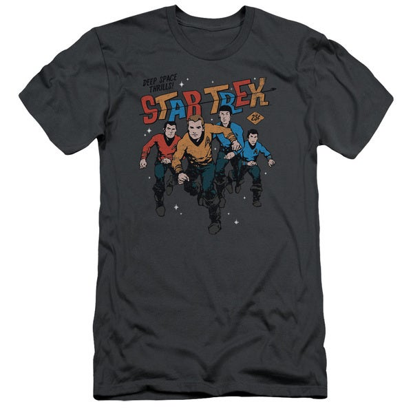 Star Trek/Deep Space Thrills Short Sleeve Adult T-Shirt 30/1 in Charcoal