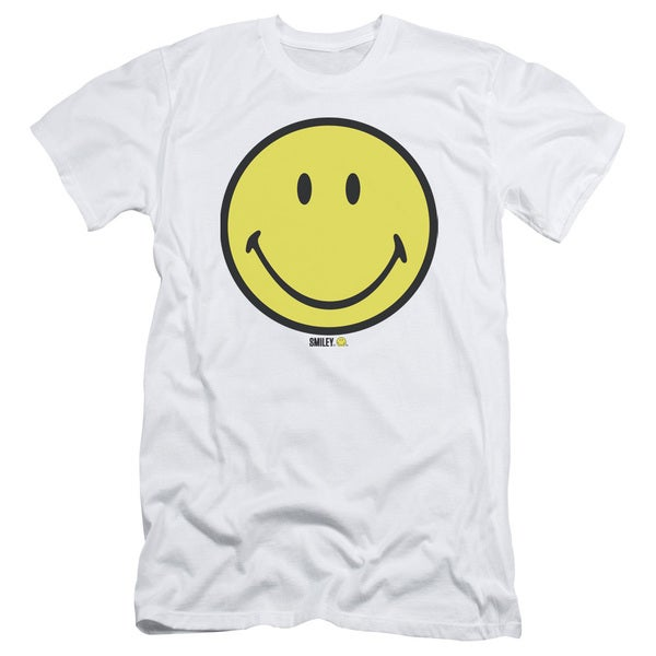 Smiley World/Basic Smiley Short Sleeve Adult T-Shirt 30/1 in White