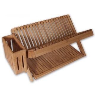 "Island Bamboo 40678 24"" X 13"" X 12"" Bamboo Dishrack"