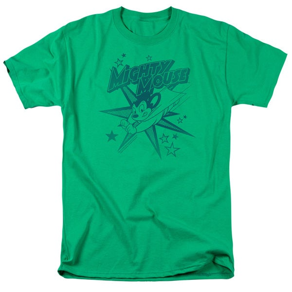 Mighty Mouse/Mighty Mouse Short Sleeve Adult T-Shirt 18/1 in Kelly Green