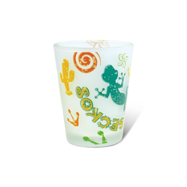 Puzzled Frosted Gecko Shot Glass 20260296
