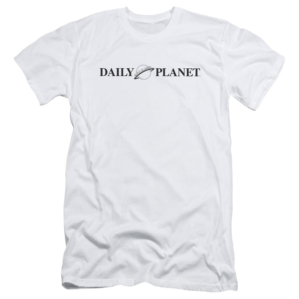 Superman/Daily Planet Logo Short Sleeve Adult T-Shirt 30/1 in White