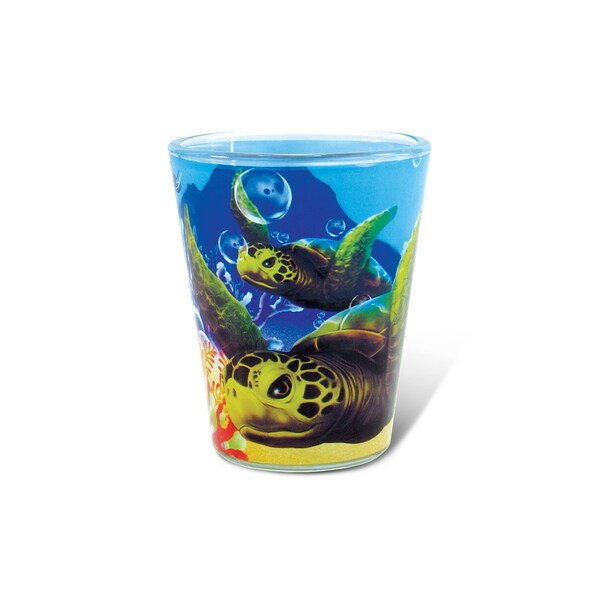 Puzzled Full Sea Turtle Shot Glass 20260538