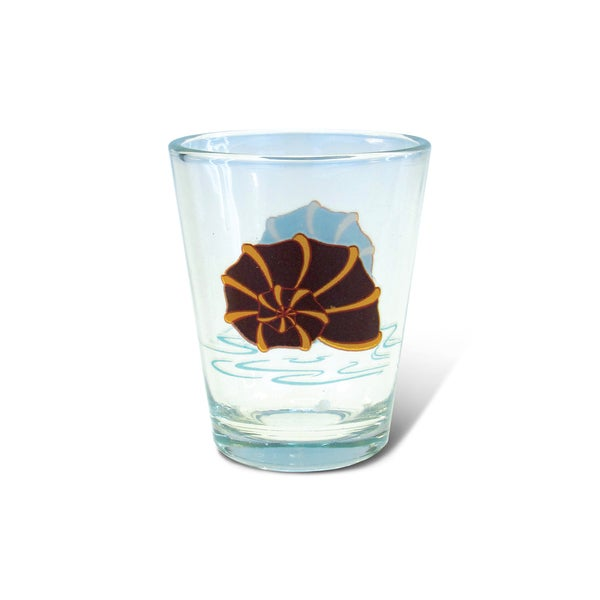 Puzzled Clear Shell Shot Glass