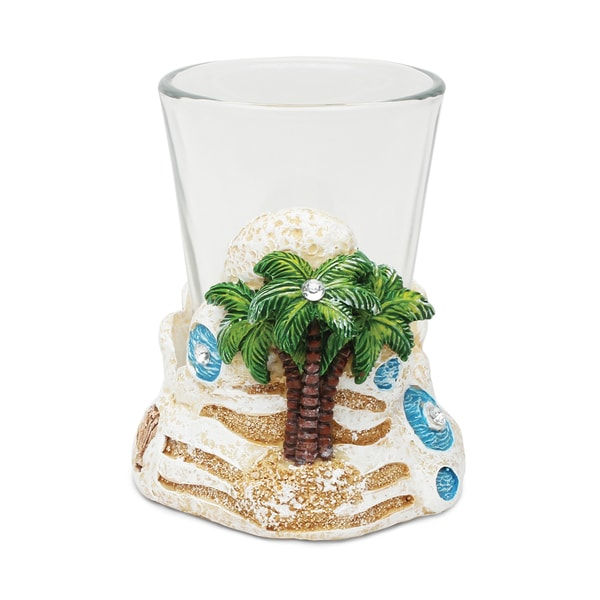 Puzzled Stone Palm Tree Shot Glass 20261180