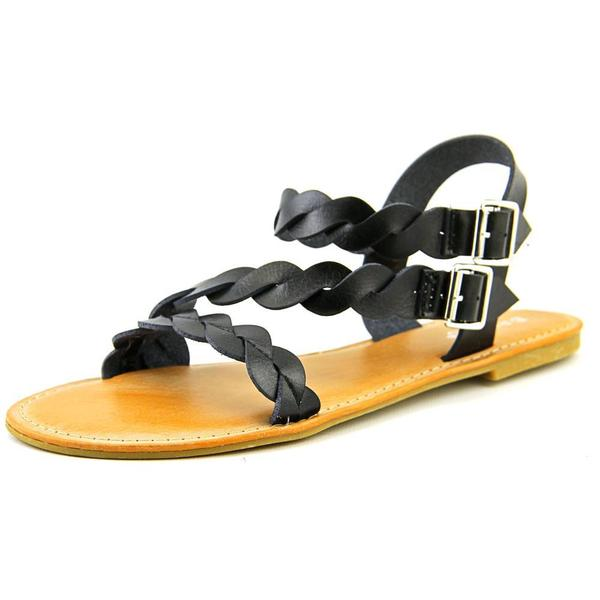 Bamboo Women's Caleb-11 Black Synthetic Sandals