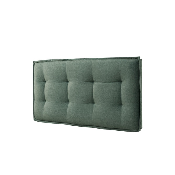 Lyke Home Twin Size Wall Mount Faded Upholstered Panel Headboard