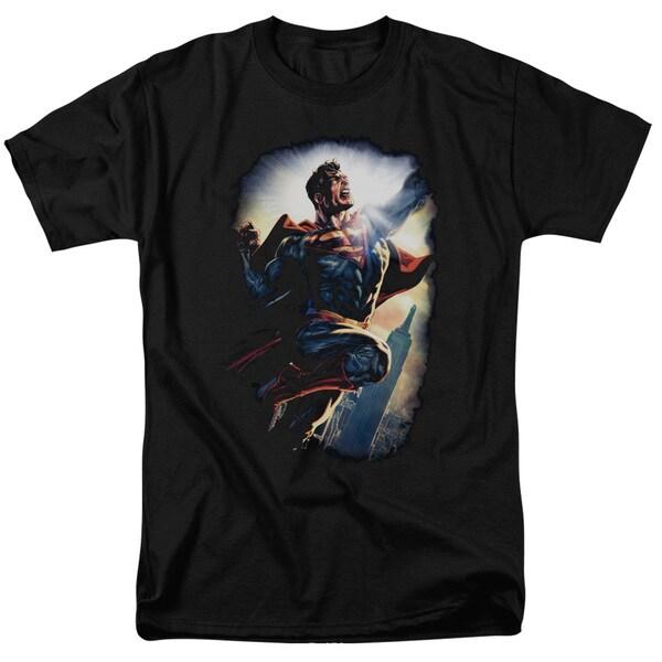 Superman/Ck Superstar Short Sleeve Adult T-Shirt 18/1 in Black