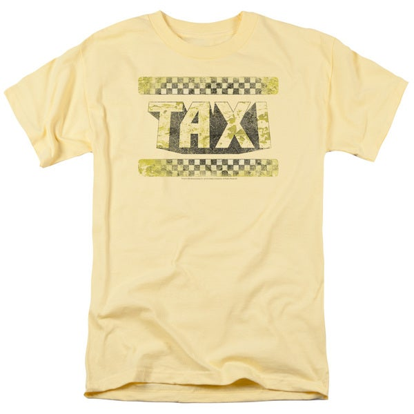 Taxi/Run Down Taxi Short Sleeve Adult T-Shirt 18/1 in Yellow
