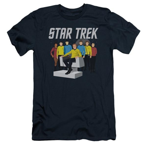Star Trek/Vector Crew Short Sleeve Adult T-Shirt 30/1 in Navy
