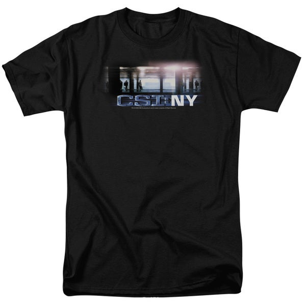 CSI/New York Subway Short Sleeve Adult T-Shirt 18/1 in Black