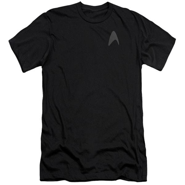Star Trek/Darkness Command Logo Short Sleeve Adult T-Shirt 30/1 in Black