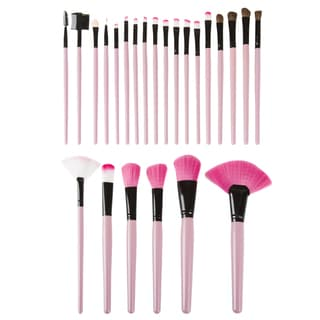 Everyday Home 24-piece Makeup Brush Set with Black Pouch