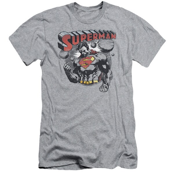 Superman/Super Ko Short Sleeve Adult T-Shirt 30/1 in Athletic Heather