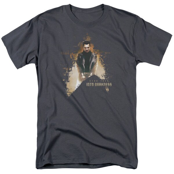 Star Trek/Dark Villain Short Sleeve Adult T-Shirt 18/1 in Charcoal