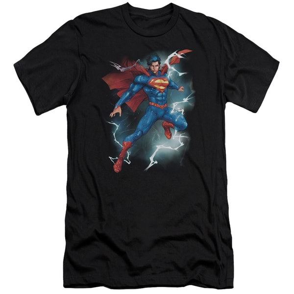 Superman/Annual #1 Cover Short Sleeve Adult T-Shirt 30/1 in Black