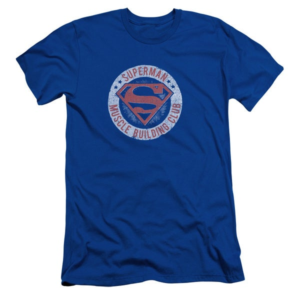 Superman/Muscle Club Short Sleeve Adult T-Shirt 30/1 in Royal