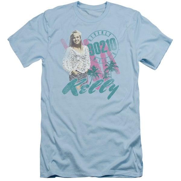 90210/Kelly Vintage Short Sleeve Adult T-Shirt 30/1 in Light Blue