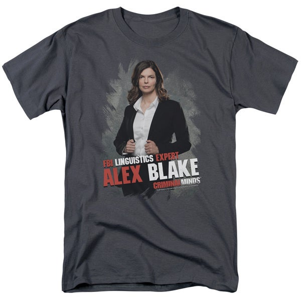 Criminal Minds/Alex Blake Short Sleeve Adult T-Shirt 18/1 in Charcoal