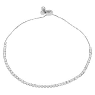 Journee Collection Sterling Silver Cubic Zirconia Lariat Bracelet