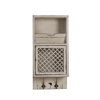 Privilege White Wood Storage Wall Cabinet