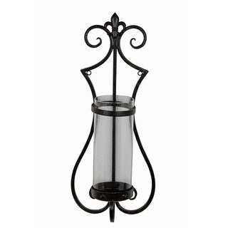 Privilege Iron and Glass Medium Wall Sconce