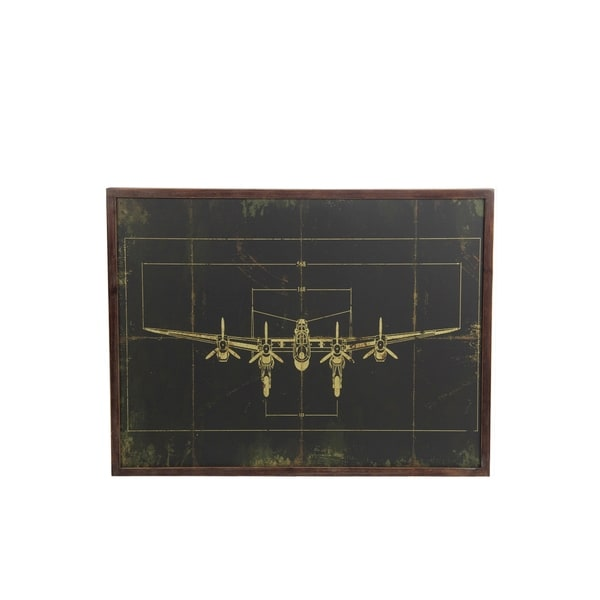 Privilege Grey Wood Plane Wall Decor