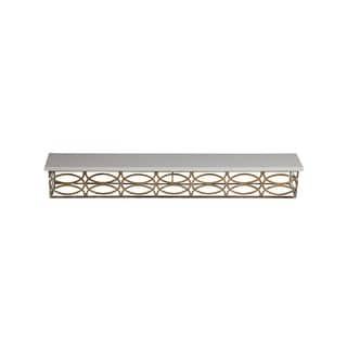 Privilege Goldtone/White Metal Wall Shelf