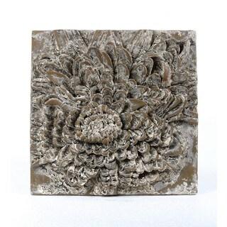 Privilege Grey Ceramic Flower Wall Plaque