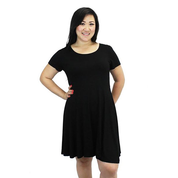 Relished Women's Black Lace-up Skater Dress