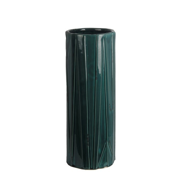 Privilege International Blue Ceramic Large Vase
