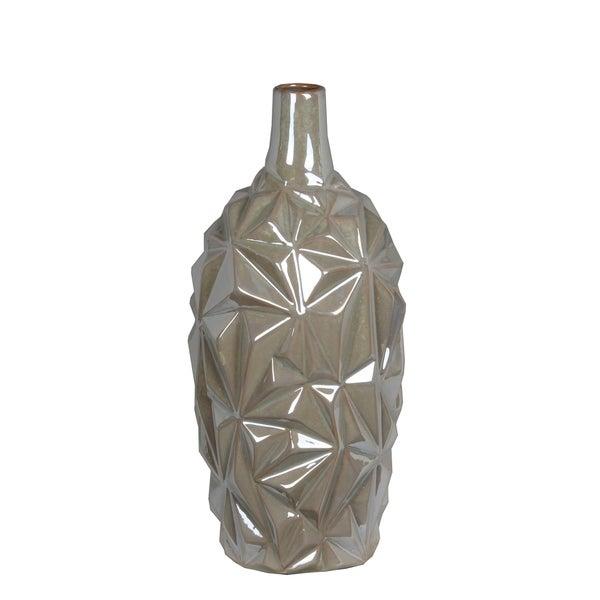Privilege Opulent Pearl Large Ceramic Vase
