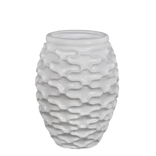 Privilege International White Ceramic Vase
