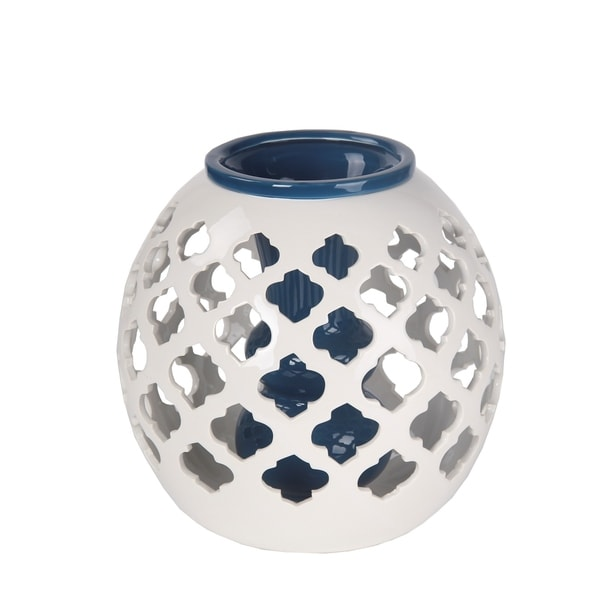 Privilege International Blue/White Ceramic Large Vase