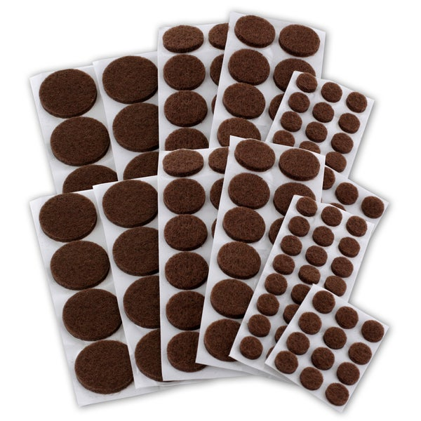 General Tools Brown Felt Assorted 152-count Furniture Floor Protector Pads (Pack of 3)