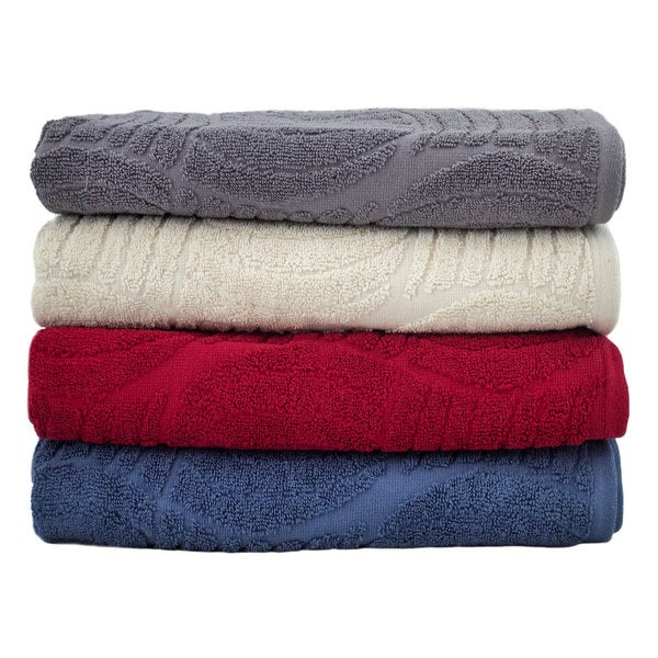 Absorbent Decorative Jacquard 6-Piece Towel Set